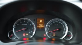 Instrument cluster is well lit and labeled
